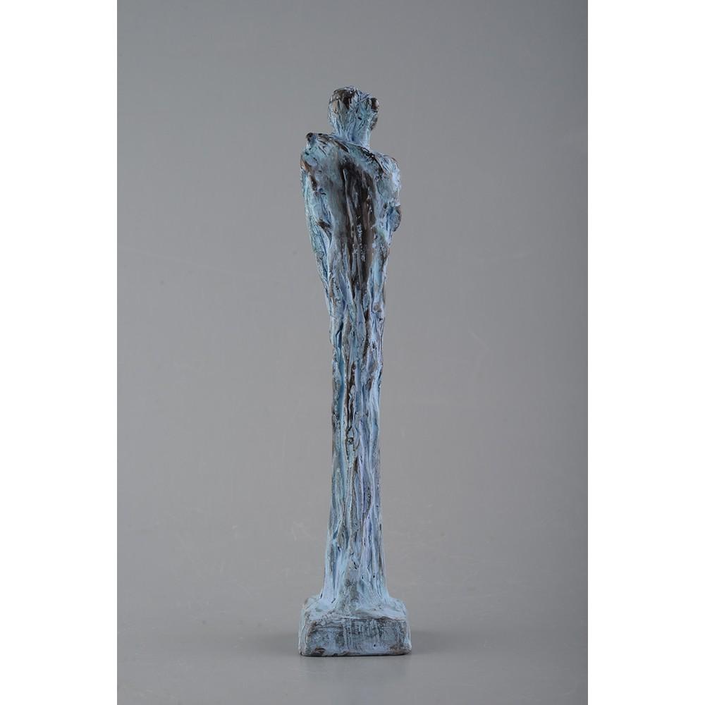 Revedere - ceramică  patinată, artist Petru Leahu