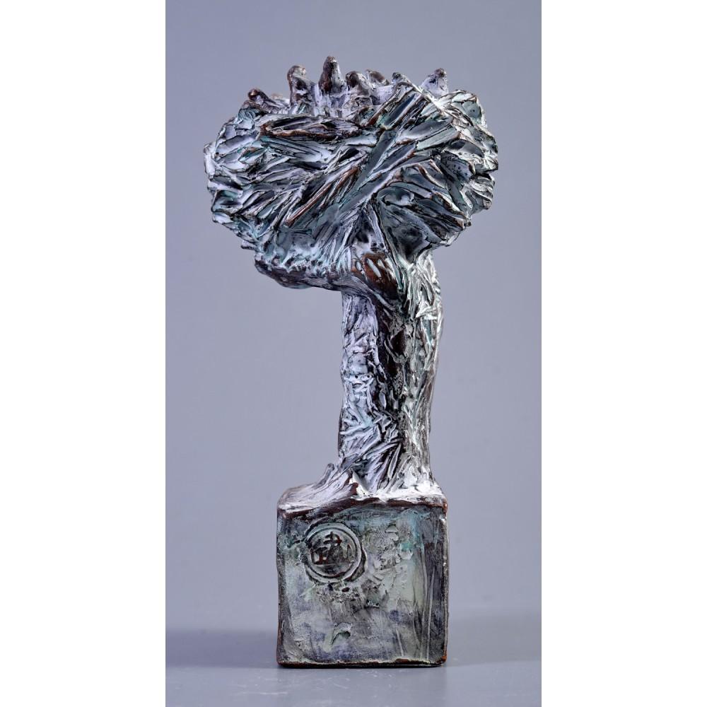 Axis mundi - sculptură în lut ars, artist Petru Leahu