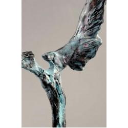 Înger III - sculptură în lut ars, artist Petru Leahu