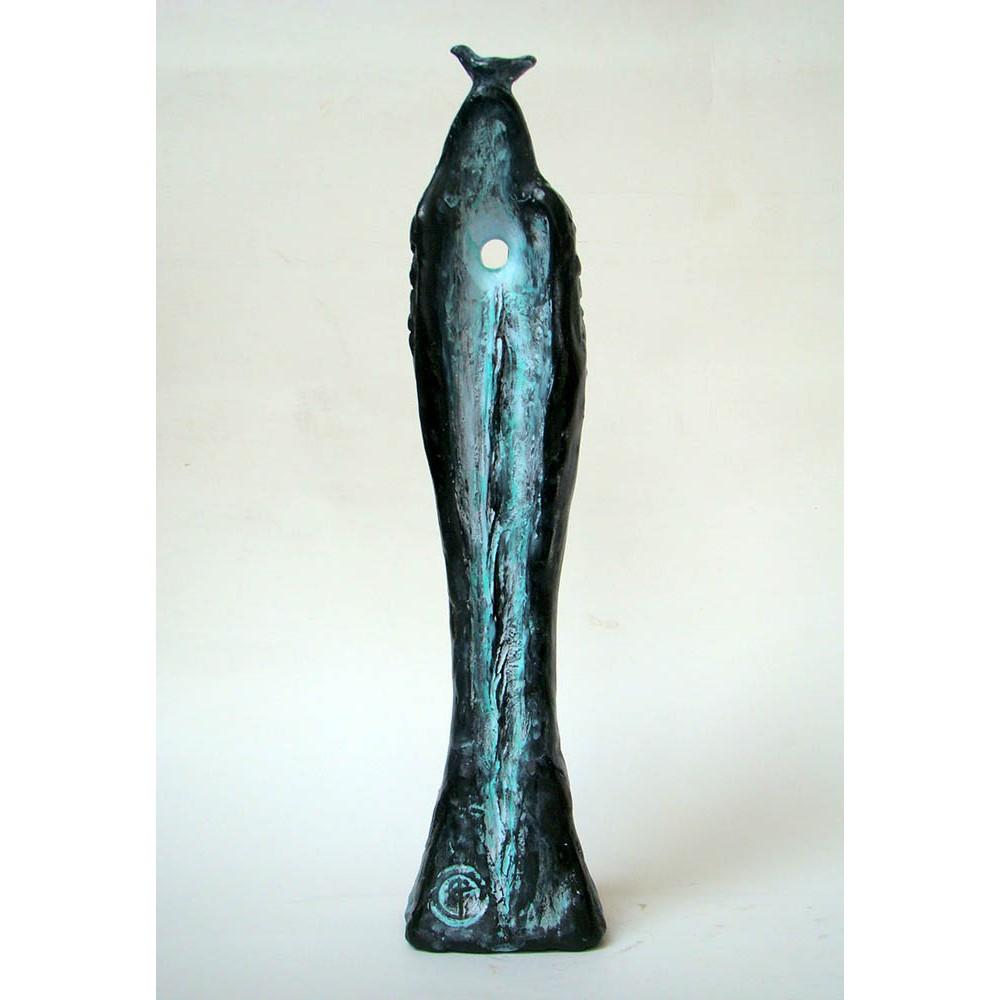 Cuplu binecuvântat - sculptură în lut ars, artist Petru Leahu