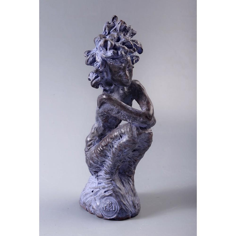 Nostalgia - ceramică  patinată, artist Petru Leahu