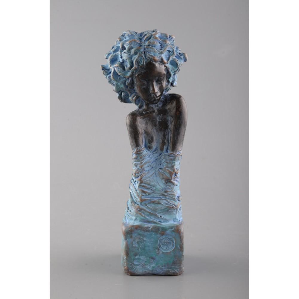 Inocența - sculptură în lut ars, artist Petru Leahu