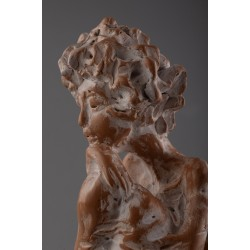 Meditație - sculptură în lut ars, artist Petru Leahu