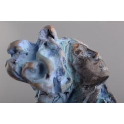 Rugăciune - sculptură în lut ars, artist Petru Leahu