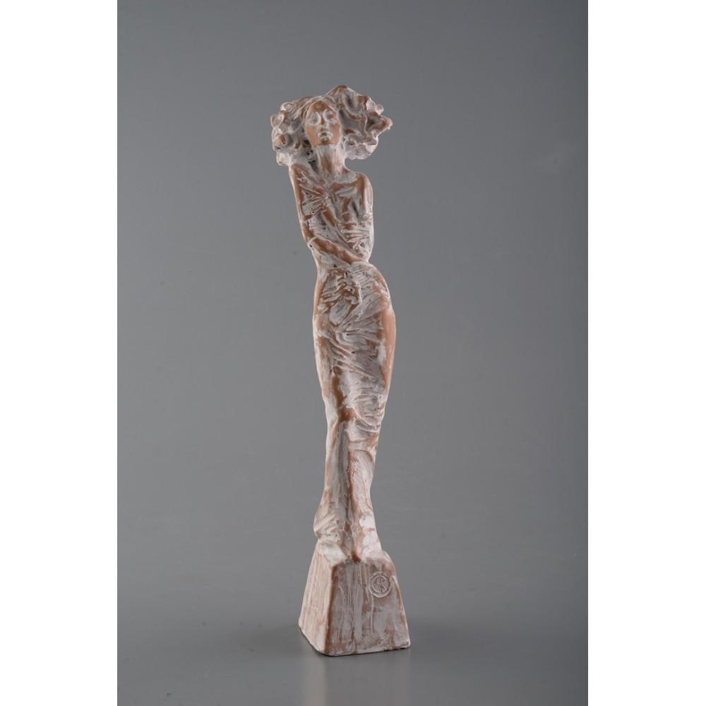 Solitudine - sculptură în lut ars, artist Petru Leahu