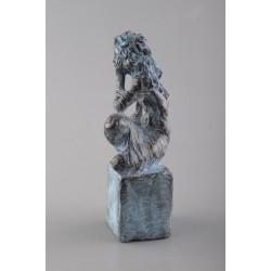 Tihnă - sculptură în lut ars, artist Petru Leahu
