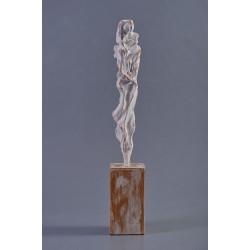 Cobori în jos - sculptură în lut ars, artist Petru Leahu