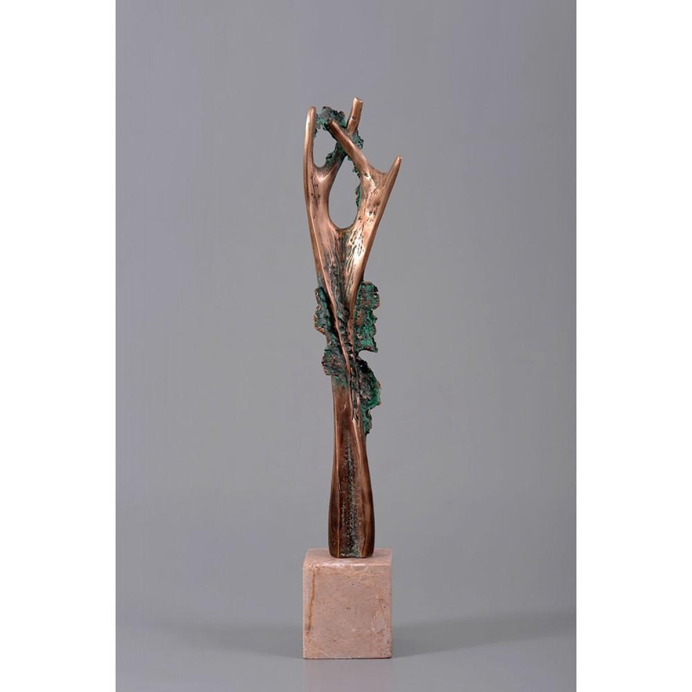 Metamorfoză III - sculptură în bronz, artist Petru Leahu