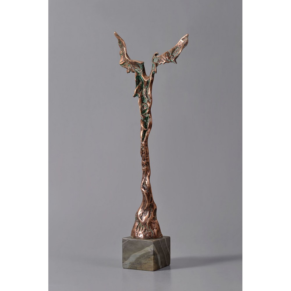 Vestitor - sculptură în bronz, artist Petru Leahu
